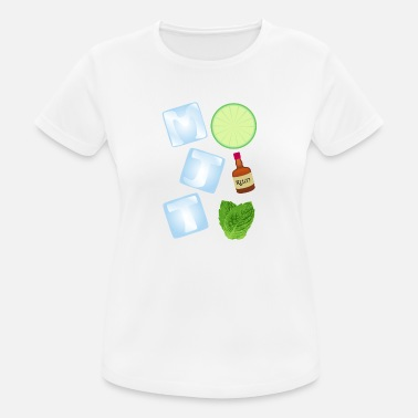Sparkling Water Mojito, by SBDesigns - Women's Breathable T-Shirt