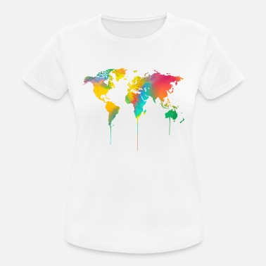 Where World map watercolor - Women's Breathable T-Shirt