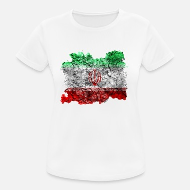 Iran Flag Iran vintage flag - Women's Breathable T-Shirt