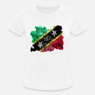 Saint Kitts And Nevis St. Kitts and Nevis vintage flag - Women's Breathable T-Shirt
