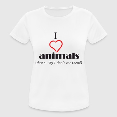 I LOVE ANIMALS - Women's Breathable T-Shirt