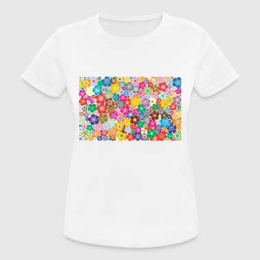 Summer Colours Colourful flowers - Women's Breathable T-Shirt