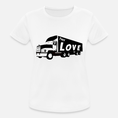 Sayings Trucker True Love Trucker Trucker - Women's Breathable T-Shirt
