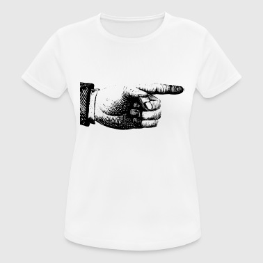 Pointing Finger Finger pointing - Women's Breathable T-Shirt