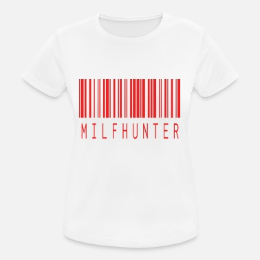 Porno Milf MILFHUNTER BARCODE RED - Women's Breathable T-Shirt