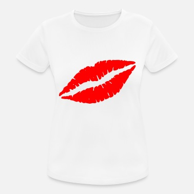 Kissing Lips Lips kissing kus lippen - vrouwen T-shirt ademend