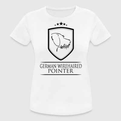 GERMAN WIREHAIRED POINTER COAT OF ARMS - Women's Breathable T-Shirt