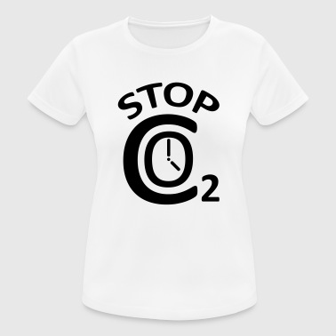 STOP CO2 - Women's Breathable T-Shirt