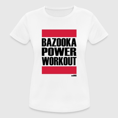BAZOOKA POWER WORKOUT - Women's Breathable T-Shirt