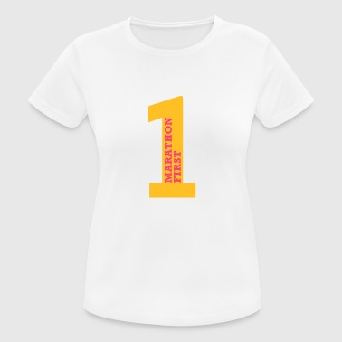 marathon_first - Women's Breathable T-Shirt
