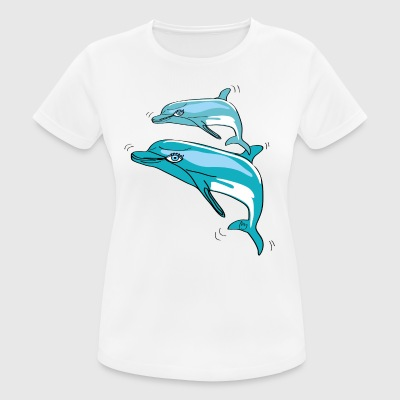 Dolphins, illustration - Women's Breathable T-Shirt