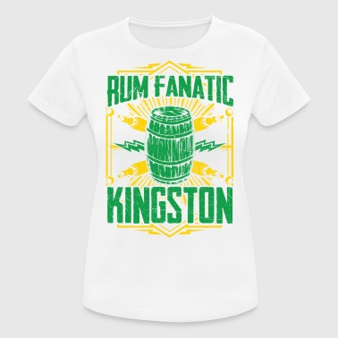 T-shirt Rum Fanatic - Kingston, Jamaica - vrouwen T-shirt ademend