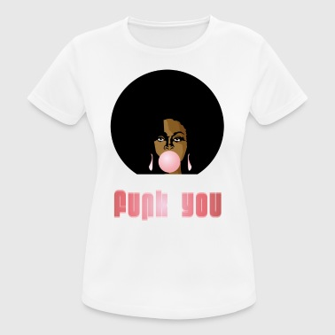 Funk You 70's Retro Bubblegum Afro Queen - T-shirt respirant Femme