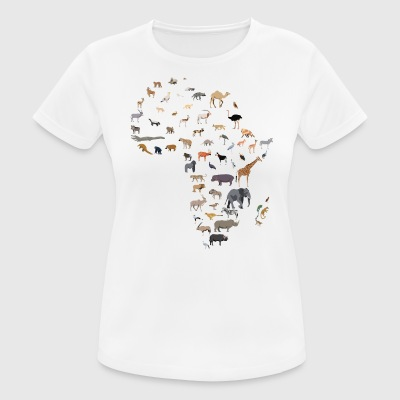 Map of African wildlife - Women's Breathable T-Shirt