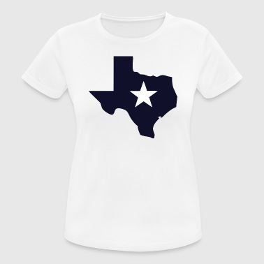 TEXAS State Outline Star - Women's Breathable T-Shirt