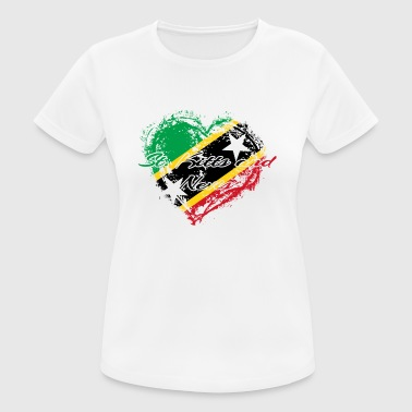 HOME ROOTS COUNTRY GIFT LOVE Saint Kitts and Nevis - Women's Breathable T-Shirt