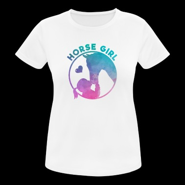 Equestrian Women Girls Love Their Horses Gift - Women's Breathable T-Shirt