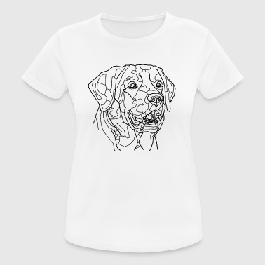 Dog Line Art - vrouwen T-shirt ademend