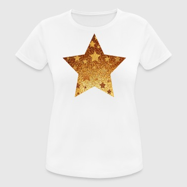 Star with asterisks - gold with gold - Women's Breathable T-Shirt