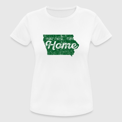 Iowa Home State Distressed - Women's Breathable T-Shirt