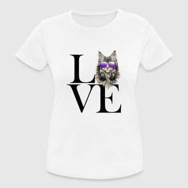 Maine Coon sort - Dame T-shirt svedtransporterende