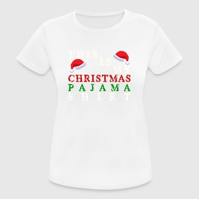 Christmas Pajama Shirt - Women's Breathable T-Shirt