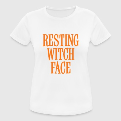Resting Witch Face Orange - Women's Breathable T-Shirt