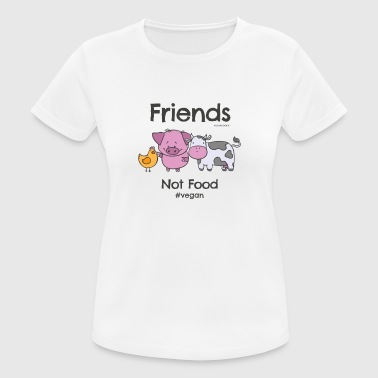 Friends Not Food TShirt for Vegans and Vegetarians - Women's Breathable T-Shirt