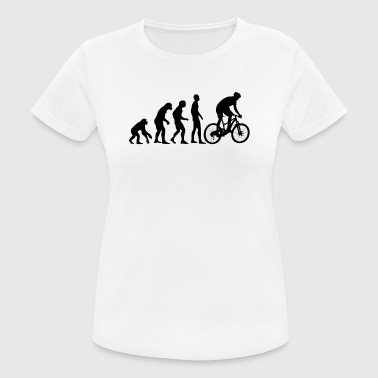 Human Evolution Mountainbike - Frauen T-Shirt atmungsaktiv