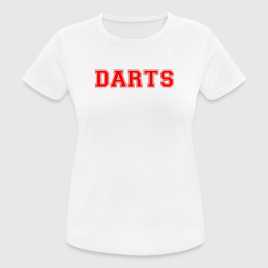 DARTS - lettering in red - Women's Breathable T-Shirt