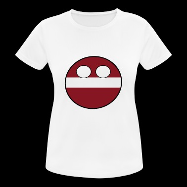 Countryball Country Homeland Latvia - Women's Breathable T-Shirt