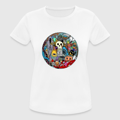 Halloween Collage Farbig - Frauen T-Shirt atmungsaktiv