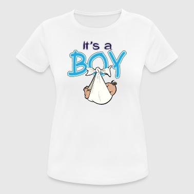 Babyshower It's a boy - vrouwen T-shirt ademend