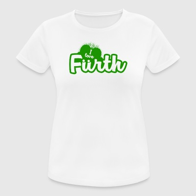 I Love Furth - Dame T-shirt svedtransporterende