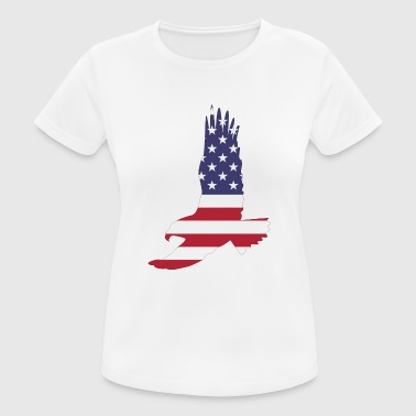 USA America Flag Stars and Stripes Eagle - vrouwen T-shirt ademend