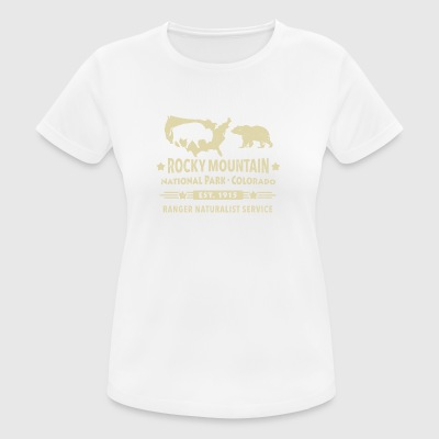 Rocky Mountain National Park Montagne Bison Grizzly Bear - T-shirt respirant Femme