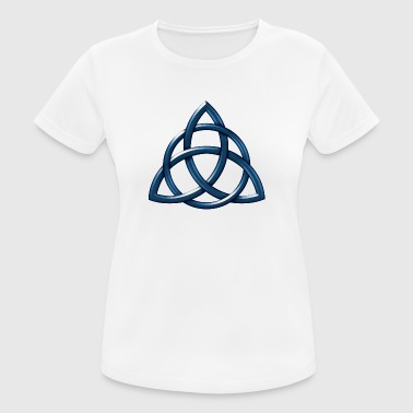 Celtic Encircled Triquetra Circle - vrouwen T-shirt ademend