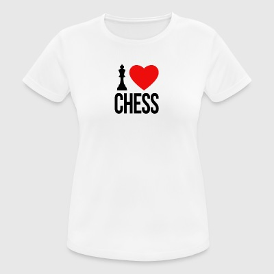 I LOVE CHESS - Dame T-shirt svedtransporterende