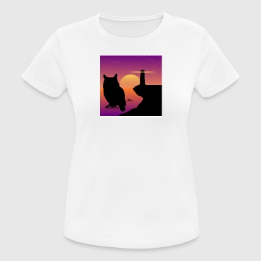 Owl at dawn - Women's Breathable T-Shirt