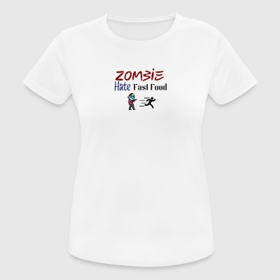 Truth sayings about zombies - Frauen T-Shirt atmungsaktiv