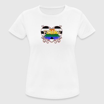 Gay pride heart of straight allies gay t-shirt gay - Andningsaktiv T-shirt dam