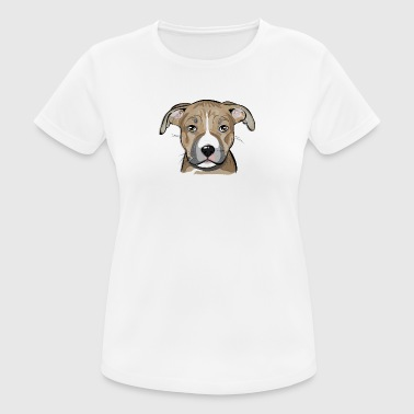 AMERICAN STAFFORDSHIRE TERRIER puppy - Women's Breathable T-Shirt