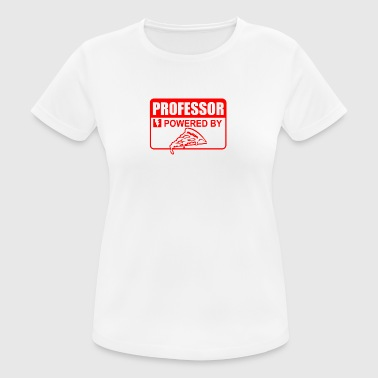 Professor powered by pizza - Women's Breathable T-Shirt