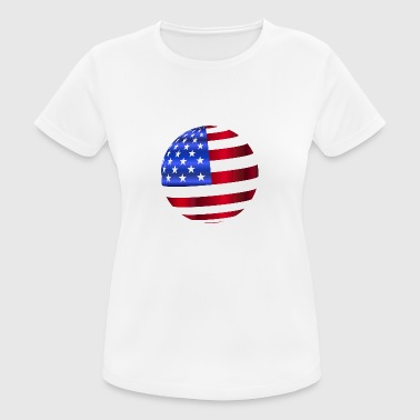 USA America Flag Stars and Stripes Ball - Women's Breathable T-Shirt