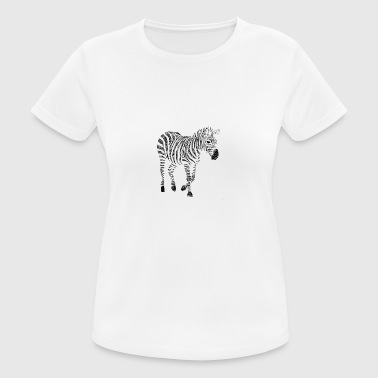 Zebra Zentangle - Frauen T-Shirt atmungsaktiv