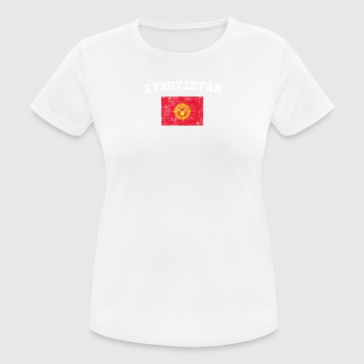 Kyrgyzstani Flag Shirt - Vintage Kyrgyzstan T-Shir - Women's Breathable T-Shirt