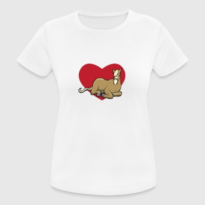 I love horses - horse with heart - Women's Breathable T-Shirt