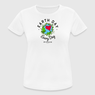 Earth Day Every Day T-shirt #vegan - Maglietta da donna traspirante