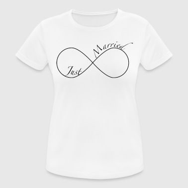 Just Married - Camiseta mujer transpirable