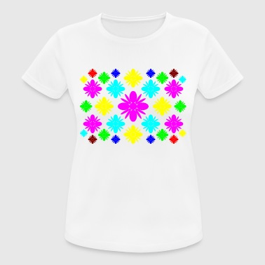 flores de colores - Camiseta mujer transpirable